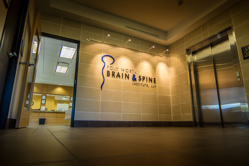 Fort Worth Brain and Spine Institute Lobby Logo